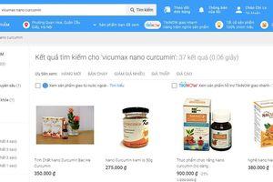 Quảng cáo thực phẩm chức năng Vi-Cumax Nano Curcumin trên trang Tiki.vn bị tuýt còi