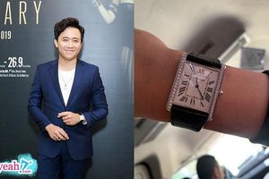 Trấn Thành đeo lại đồng hồ nạm kim cương 1,2 tỷ đồng dự triển lãm của Thu Minh