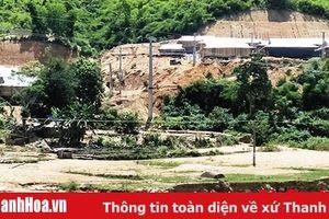 Hơn 10 ha trồng lúa nước của huyện Mường Lát bị thiệt hại do mưa lũ