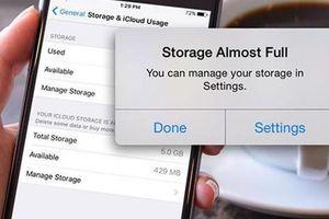 Bốn việc cần làm khi iPhone bị đầy bộ nhớ