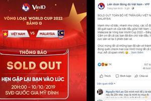 Đã bán hết 27.000 vé trận Việt Nam - Malaysia
