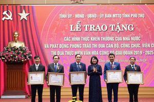 Phú Thọ: Nhiều tập thể, cá nhân vinh dự được nhận phần thưởng cao quý của Nhà nước