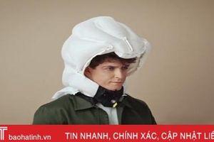 Mũ bảo hiểm có túi khí bung ra khi tai nạn
