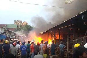 Cháy chợ Mộc Bài gây thiệt hại trên 35 tỷ đồng