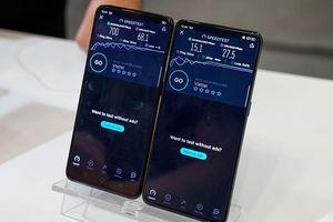 Mẫu smartphone Reno 5G của Oppo chạy thử nghiệm mạng 5G ở TP.HCM