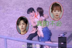 Lộ ảnh hậu trường Dương Tử 'cưỡng hôn' Tiêu Chiến: Là diễn nhập tâm hay 'tranh thủ' khóa môi trai đẹp?