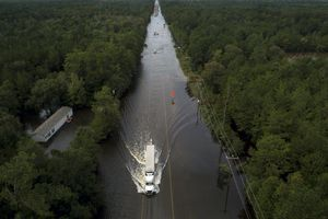 Bão Imelda đổ bộ Texas, phố biến thành sông, 2 người thiệt mạng