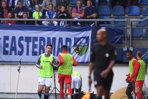 Đoàn Văn Hậu phải dự bị trong ngày Heerenveen hòa Utrecht trên sân nhà
