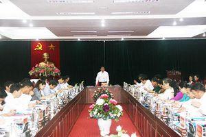 Đồng chí Phạm Minh Chính, Ủy viên Bộ Chính trị, Bí thư Trung ương Đảng, Trưởng Ban Tổ chức Trung ương làm việc tại tỉnh Sơn La