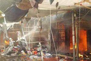 Tan hoang chợ Tó, Đông Anh sau khi cháy lớn