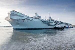 Siêu tàu sân bay thứ hai của Anh bắt đầu chạy thử trên biển