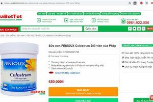 Cục An toàn thực phẩm cảnh báo 9 website quảng cáo lừa dối người tiêu dùng