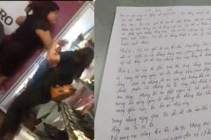 Chủ shop giày định 'bùng' tiền lương và đánh nữ nhân viên viết tâm thư xin lỗi