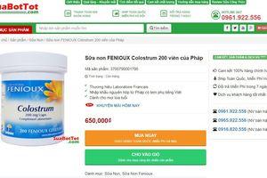 Cẩn trọng với thông tin quảng cáo thực phẩm bảo vệ sức khỏe Fenioux Colostrum