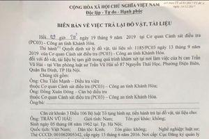 Giao trả một số tài liệu cho Văn phòng luật sư Trần Vũ Hải