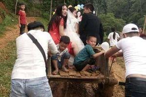 'Phát sốt' với đám cưới rước dâu bằng công nông và phản ứng bất ngờ của người vợ