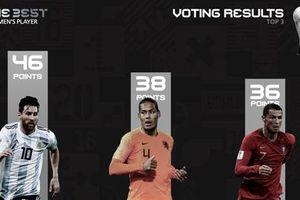 Messi đánh bại Ronaldo, Van Dijk để trở thành cầu thủ xuất sắc nhất thế giới