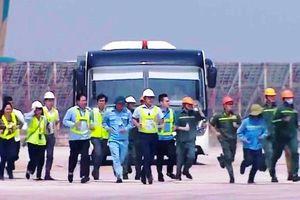 Sân bay Nội Bài diễn tập phòng cháy, chữa cháy