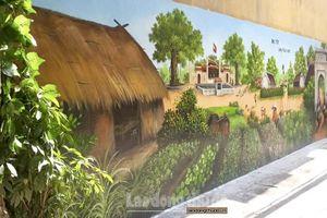 Độc đáo tranh bích họa 'Đại Yên làng thuốc nam'