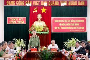 Bộ trưởng Tô Lâm làm việc với Ban Thường vụ Tỉnh ủy Kon Tum