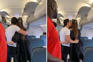 Chuyện showbiz: Hà Hồ - Kim Lý ôm hôn nhau trên máy bay gây tranh cãi