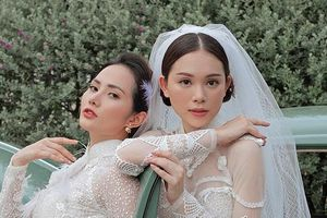 Bạn gái Phillip Nguyễn mặc áo dài cưới, đọ sắc cùng Hoa hậu Diệu Linh