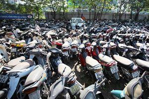 Công an quận Hoàng Mai tìm chủ sở hữu hàng loạt xe máy tang vật
