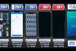 iPhone 11 Pro Max thắng Galaxy Note10+ về thời lượng pin