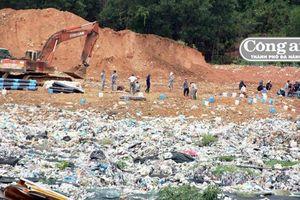 Người dân cho Cty môi trường vào bãi rác Tam Xuân 2 khắc phục sự cố