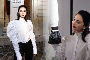 'Ma nữ' Mai Davika đẹp mê hồn trong buổi triển lãm Áo sơ mi trắng tri ân ông hoàng Karl Lagerfeld