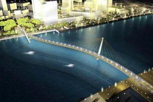Cầu đi bộ nối quận 1 với Thủ Thiêm sẽ có làn xe đạp, băng chuyền