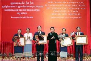 Trao Huân chương, Huy chương của Nhà nước Việt Nam tặng các tập thể, cá nhân của Quốc hội Lào