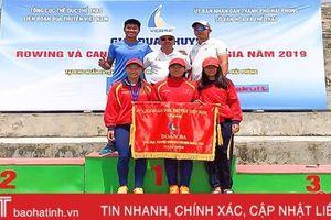 Hà Tĩnh xếp thứ 3 toàn đoàn Giải vô địch Rowing quốc gia năm 2019