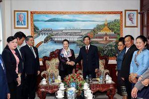 Chủ tịch Quốc hội thăm làm việc tại tỉnh Vientiane, CHDCND Lào