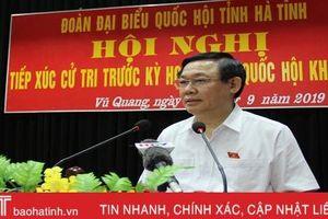 Phó Thủ tướng Vương Đình Huệ: Nghiên cứu đấu nối sử dụng nước kênh Ngàn Trươi - Cẩm Trang cho huyện Vũ Quang