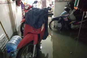 Triều cường làm vỡ bờ bao, quận 8 ngập trong nước