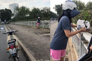 Bị nhắc và quay clip, người phụ nữ đi xe biển 32 không dừng trộm hoa giấy ở TP.HCM