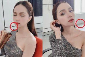 Tưởng mặt đẹp chuẩn không cần chỉnh, nào ngờ Hương Giang vẫn bị soi photoshop méo tường