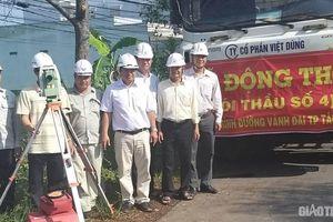 Khởi công gói thầu đầu tiên của dự án đường Vành đai TP. Tân An