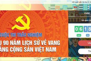 362.245 lượt người dự thi tìm hiểu lịch sử Đảng