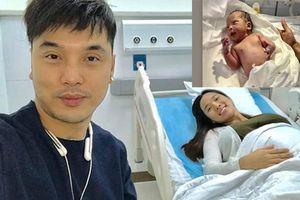 Con gái vừa chào đời, Ưng Hoàng Phúc vội đăng ảnh khoe bạn bè