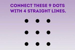 Vò đầu bứt tóc với bài toán dùng 4 đường thẳng nối 9 điểm chỉ bằng một nét bút