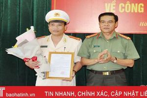 Công an Hà Tĩnh có tân Trưởng phòng Cảnh sát Cơ động