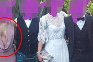 Diện váy xẻ tới tận rốn đi dự đám cưới, gái xinh chiếm trọn spotlight sáng nay