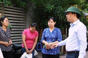 Kiểm tra công tác phòng chống dịch bệnh tại phường Cổ Nhuế 1
