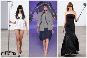 Chai nước biển, gậy tự sướng, chậu cây giờ đã thành phụ kiện cho người mẫu trên sàn diễn Paris Fashion Week