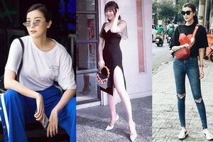 Style ngoài đời của mợ Hai (Tiếng Sét Trong Mưa): Tươi trẻ, táo bạo có cả nhưng ấn tượng nhất là những màn khoe chân siêu nuột