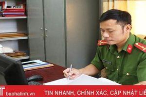 Thượng úy 'giàu' bằng khen, giấy khen nhất Công an Thạch Hà