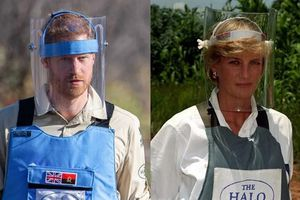 Hoàng tử Harry đi bộ qua bãi mìn nơi Công nương Diana đi qua 22 năm về trước
