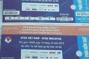 Vé trận Việt Nam – Malaysia vòng loại World Cup 2022 'nhảy múa' gấp 5 lần
